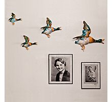 Flying Ducks on Granddad's Wall Photographic Print