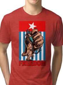 Freedom West Papua Morning Star Flag Tri-blend T-Shirt