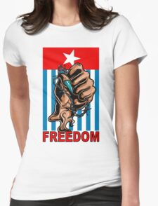 Freedom West Papua Morning Star Flag Womens Fitted T-Shirt
