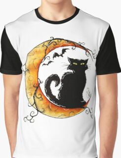 The cat and the moon. Graphic T-Shirt