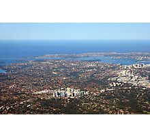 Aerial view of Sydney Australia Photographic Print