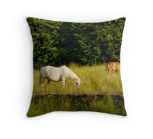 Irish Horses Throw Pillow