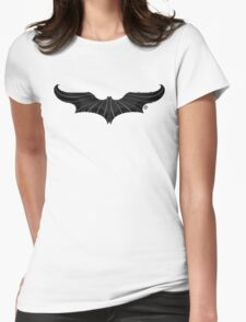 The Bat-Stache Womens Fitted T-Shirt