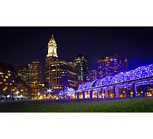 Christopher Columbus Park, Boston, Night Photographic Print