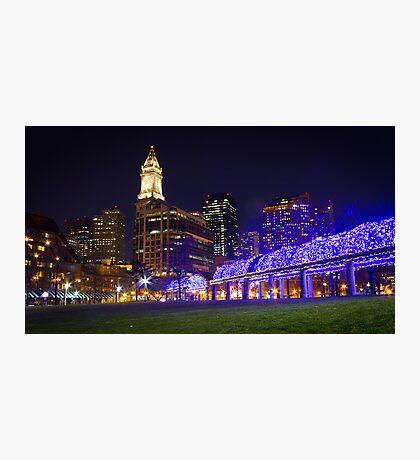 Christopher Columbus Park, Boston, Night Photographic Print