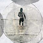 Lone Surfer - Cropped by Vikki-Rae Burns