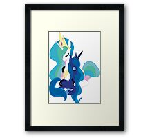 My Little Pony Friendship Is Magic Luna and celestia poster Framed Print