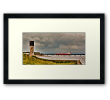 Leaving the Humber Estuary Framed Print