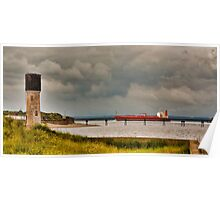 Leaving the Humber Estuary Poster
