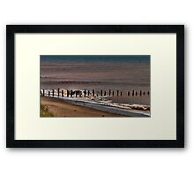 North Sea Defence Framed Print
