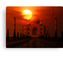 Taj Mahal Sunset Canvas Print