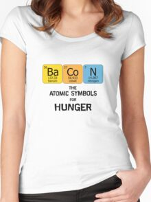 Atomic Symbol for Hunger Women's Fitted Scoop T-Shirt