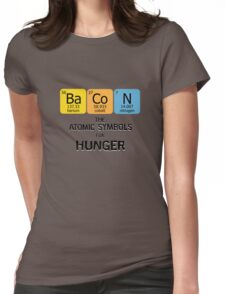 Atomic Symbol for Hunger Womens Fitted T-Shirt
