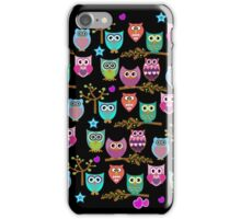 funky owls iPhone Case/Skin