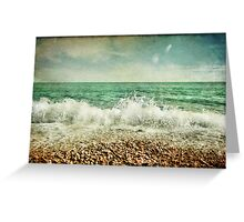 Beside the sea V Greeting Card