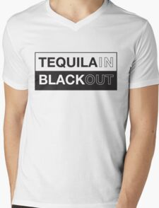 Tequila blackout t-shirt Mens V-Neck T-Shirt