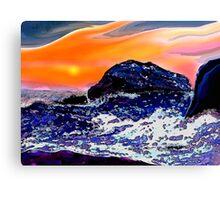 Sunset at Sea Canvas Print