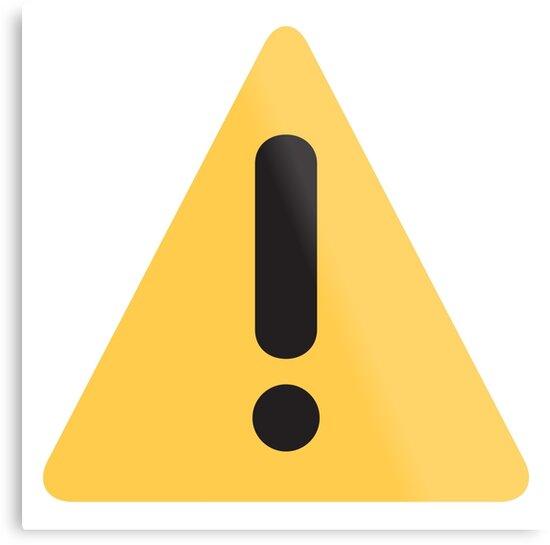 17505188 Warning Sign Emoji on Danger Sign Update