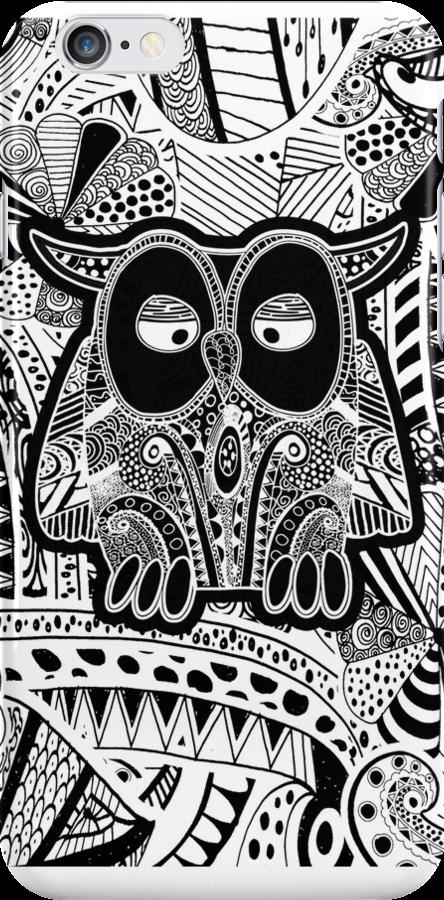 doodle owl by Ancello