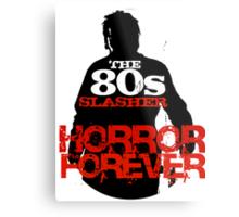 The 80s Slasher Metal Print
