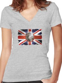 Interview with a Vulture Women's Fitted V-Neck T-Shirt