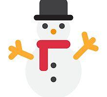 Snowman Emoji by Winkham