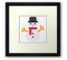 Snowman Emoji Framed Print