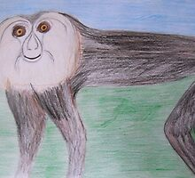 Macaque - Tropical artwork serie - July 2012 by Penny V-P