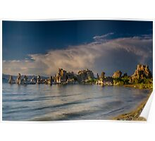 Mono Lake, South Tufa after breaking summer storm Poster