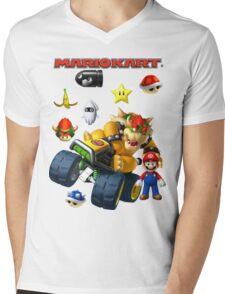 Mario Kart Mens V-Neck T-Shirt
