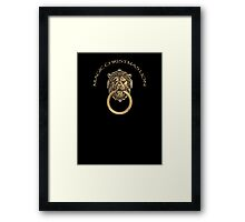 Rufus the Magic Christmas Lion Framed Print