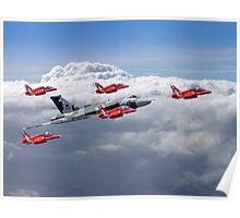 Final Vulcan Flight With The Red Arrows  - 3 Poster
