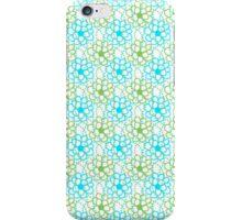 Blue Green  Floral Pattern iPhone Case/Skin