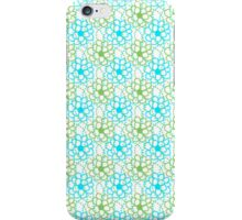Blue Green  Floral Pattern iPhone Case/Skin