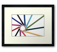 You are all around me... Framed Print