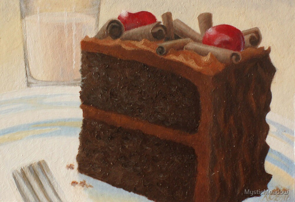 Food Luv--Chocolate Cake by MysticMeadow
