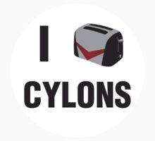 Cylon Crush Sticker by Erin DeMoss