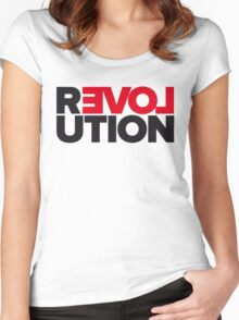 Revolution of love Women's Fitted Scoop T-Shirt