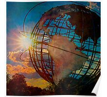Sunset at the Unisphere Poster