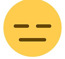 Expressionless face emoji by Winkham