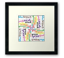 English colour words IV Framed Print