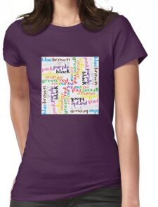 English colour words IV Womens Fitted T-Shirt