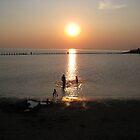 sunset weston super mare by mark tabrett