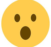 face with open mouth emoji by Winkham