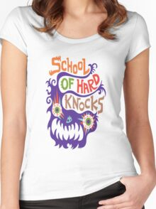 School Of Hard Knocks violet Women's Fitted Scoop T-Shirt