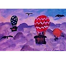 Floating above the clouds, watercolor Photographic Print