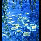 Water Lilies Blue-1 by dvampyrelestat