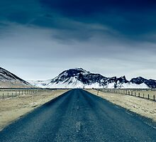 Country road in Iceland by Linsey Walker