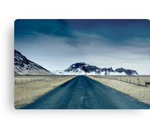 Country road in Iceland Metal Print