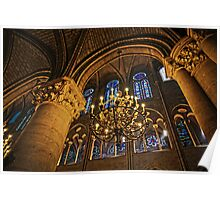 Inside the great gothic halls of Notre Dame Poster